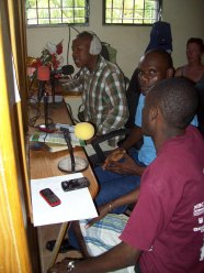 "Discussing over the Jean Rabel radio on the topic: ""Do we need God to build a city, or not?"""