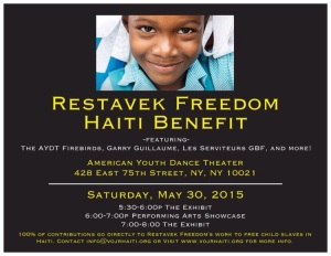 Restavek Freedom Haiti Benefit Flyer